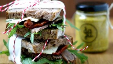 Rindfleisch-Sandwich